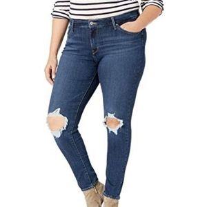 Levi's 711 Distressed Skinny Jeans Plus Size 18